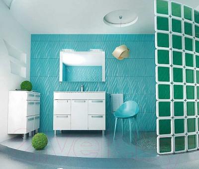 Зеркало для ванной Triton Ника 100 (белый) - в интерьере