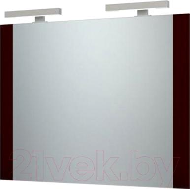Зеркало для ванной Triton Ника 120 (вишневый)