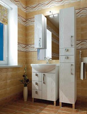 Шкаф с зеркалом для ванной Triton Кристи 60 (003.42.0600.111.01.01 L) - в интерьере