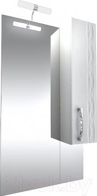 Шкаф с зеркалом для ванной Triton Кристи 60 (удлиненный правый)