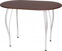 Обеденный стол Древпром Грация 110х68 (металлик/орех) -