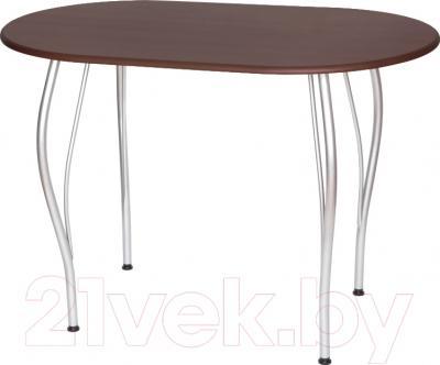 Обеденный стол Древпром Грация 110x68 (металлик/орех)
