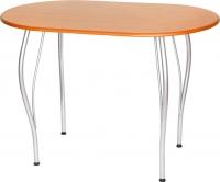 Обеденный стол Древпром Грация 110х68 (металлик/дуб натуральный) -