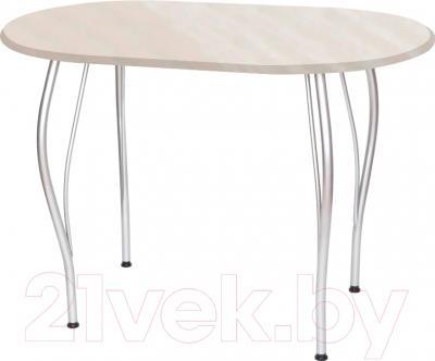 Обеденный стол Древпром Грация 110x68 (металлик/жемчуг)