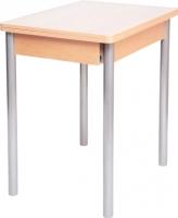 Обеденный стол Древпром Компакт 50х70 (металлик/дуб светлый) -