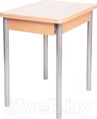 Обеденный стол Древпром Компакт 50х70 (металлик/дуб светлый)