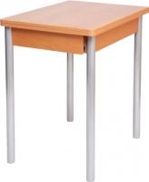 Обеденный стол Древпром Компакт 50х70 (металлик/дуб натуральный) -