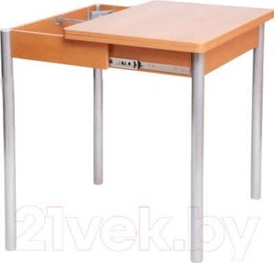 Обеденный стол Древпром Компакт 50х70 (металлик/дуб натуральный) - в процессе раскладки
