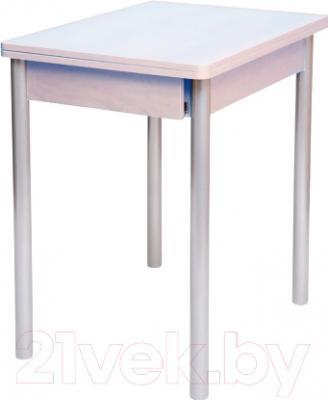Обеденный стол Древпром Компакт 50x70 (металлик/жемчуг)