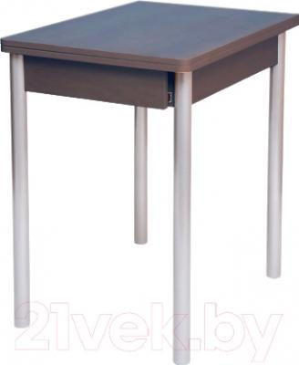 Обеденный стол Древпром Компакт 50х70 (металлик/орех)