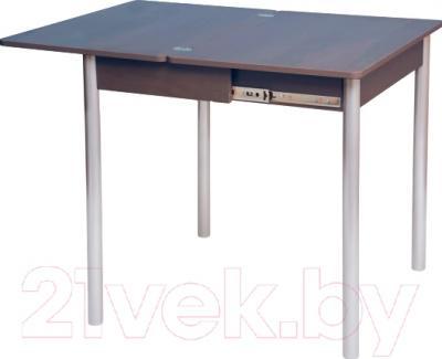 Обеденный стол Древпром Компакт 50х70 (металлик/орех) - в разложенном виде