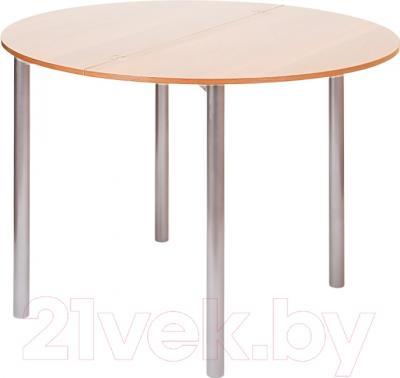 Обеденный стол Древпром М2 90х50 (дуб светлый/металлик)