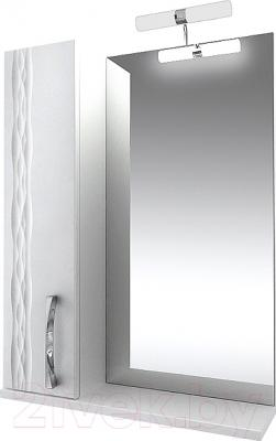Шкаф с зеркалом для ванной Triton Кристи 55 (левый)