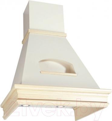 Вытяжка купольная Elikor Бельведер Валенсия 60П-650-П3Г (топл. молоко/дуб белый с патиной)
