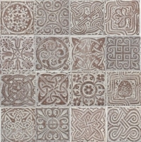 Декоративная плитка Сокол Бургундия DN3 (80x80) -