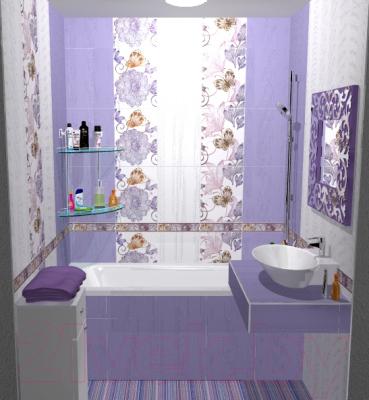 Плитка для стен ванной Сокол Вальс Цветов CRL4 (330x440)