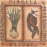 Декоративная плитка для кухни Сокол Гурман лук и перец D-565 (165x165) -