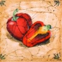Декоративная плитка для кухни Сокол Гурман Перец D-494 (165x165) -