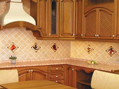 Декоративная плитка для кухни Сокол Гурман Яблоко D-498 (165x165)