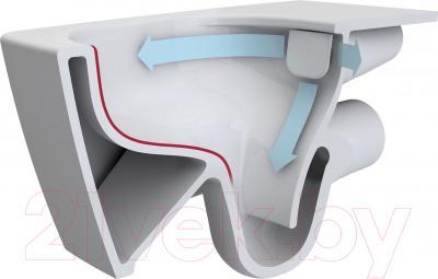 Унитаз подвесной VitrA Sento Rim-ex (7747B003-6115) - безободковая система слива