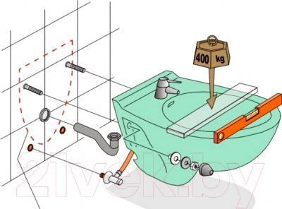 Биде подвесное Jacob Delafon Presquile E4441-00 - рисунок монтажа