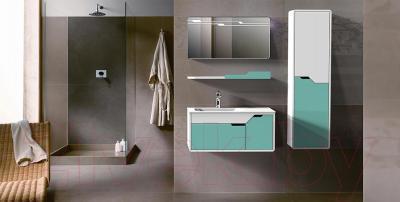 Зеркало для ванной Belux Альба В80 (белый) - в интерьере