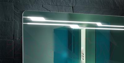 Зеркало для ванной Belux Альба В80 (белый) - встроенная подсветка