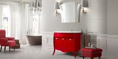 Зеркало для ванной Belux Бриз В100 (белый) - в интерьере