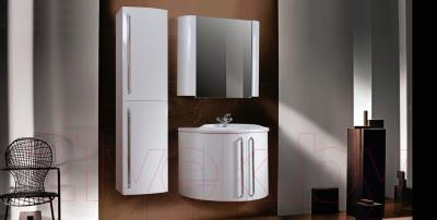 Шкаф с зеркалом для ванной Belux Рото В90 (белый) - в интерьере