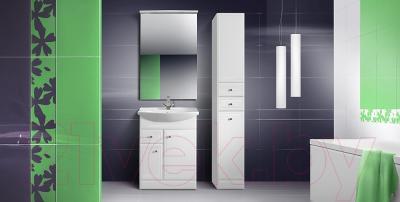 Шкаф-пенал для ванной Belux Адажио П30-02К (белый)