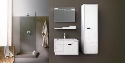 Шкаф-полупенал для ванной Belux Альба П35 (белый, правый)