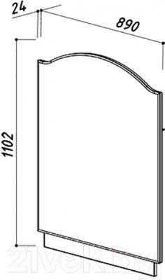 Зеркало для ванной Belux Орсе В80 (белый) - размеры
