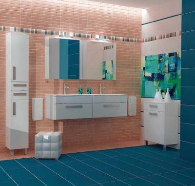 Зеркало для ванной Triton Ника 80 (белый) - в интерьере