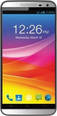 Мобильный телефон Micromax Canvas Power AQ5001 (серебристый + защитная пленка)