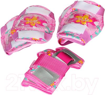 Роликовые коньки Sundays PW-117C-2 (XS, розовый, защита в комплекте)