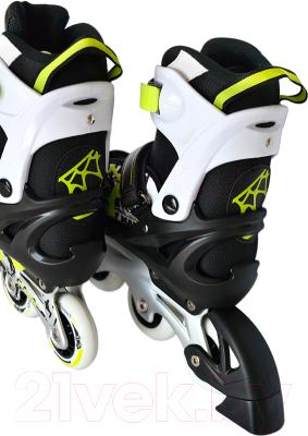 Роликовые коньки Sundays PW-153B-5 (XS, зеленый)