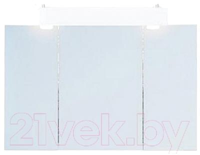 Шкаф с зеркалом для ванной Aqwella Бродвей Brw.04.10