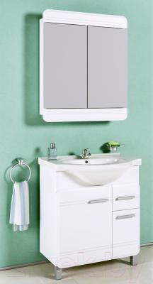 Шкаф с зеркалом для ванной Aqwella Корсика (Kor.04.07) - в интерьере