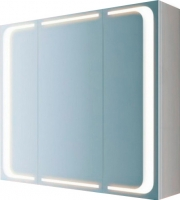 Шкаф с зеркалом для ванной Aqwella Милан Mil.04.08 (белый) -