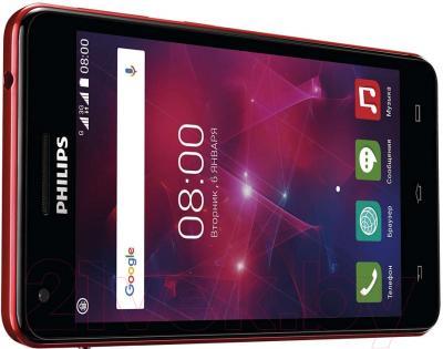Смартфон Philips Xenium V377 (черно-красный)