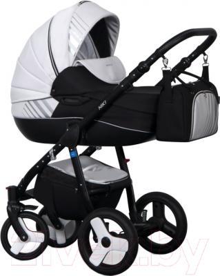 Детская универсальная коляска Riko Niki 2 в 1 (08/Black-White)