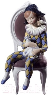 "Статуэтка Lladro Ballet y Circo ""Маленький арлекин"" (синий с желтым)"