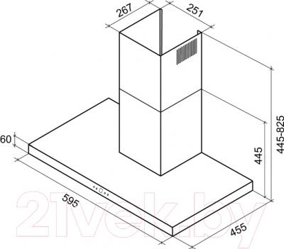 Вытяжка Т-образная Shindo Demeo Sensor 60 SS/BG