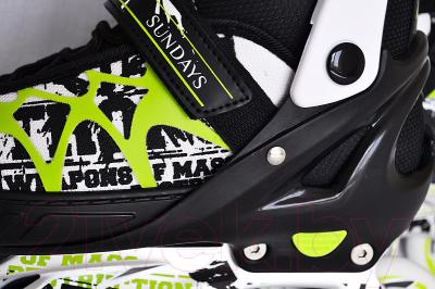 Роликовые коньки Sundays PW-153B-5 (M, зеленый)