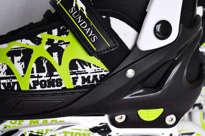 Роликовые коньки Sundays PW-153B-5 (L, зеленый)