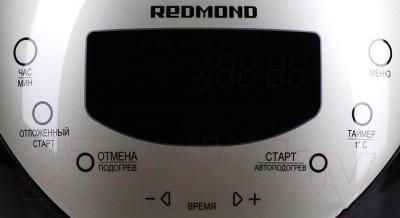 Мультиварка Redmond RMC-M150 (серебро) - панель передняя