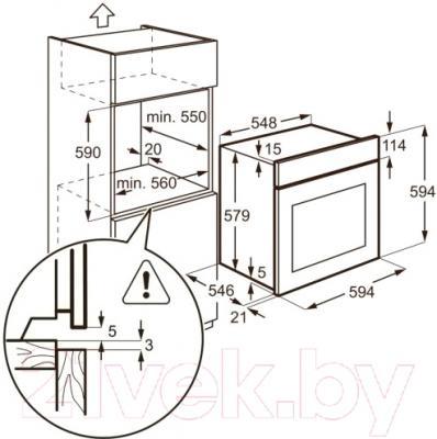 Электрический духовой шкаф AEG BS5836600M
