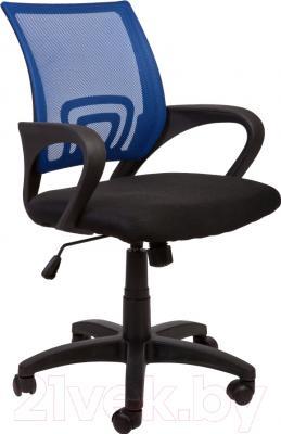 Кресло офисное Седия Omega (сине-черный)