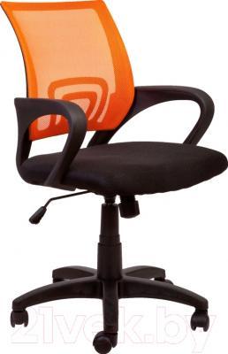 Кресло офисное Седия Omega (оранжево-черный)