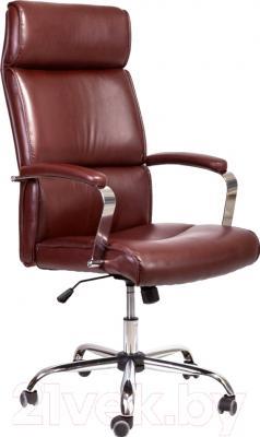 Кресло офисное Седия Adrian Chrome Eco (коричневый)